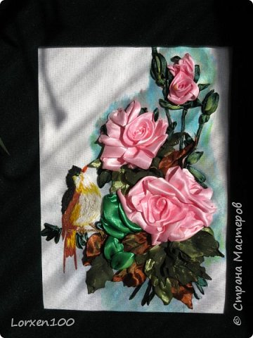Здравствуйте,мои дорогие соседи-жители  любимой Страны!Что-то начало года меня разленило,месяц прошел,а никаких работ новых,в игры играю- в детство впала)) Но,между делом,такая вот птичка с розами у меня появилась!Птичка чирикает так славно,а розы благоухают)))очень меня радуют!Надеюсь,что и вы улыбнетесь,мои милые!! фото 4
