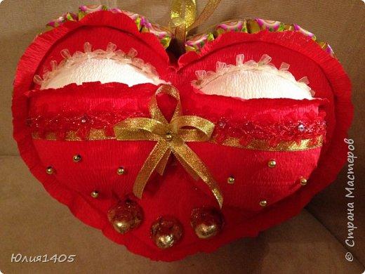 Здравствуйте друзья, вот такое сердце решила подарить любимому мужу:))) фото 1
