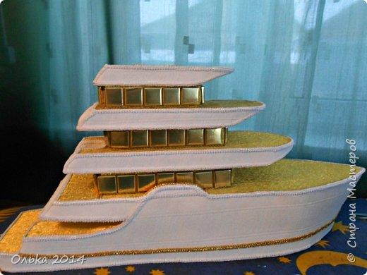 Доброго времечка, дорогие рукодельницы!!! В предыдущем блоге показала Вам свою флотилию, ну а сейчас хочу поведать Вам, как делала я яхту. Вдохновением моим явилась Юлия Махова  http://mamayulia.gallery.ru/watch?a=SFa-lFJ3   http://mamayulia.gallery.ru/watch?a=SFa-lRJl фото 54