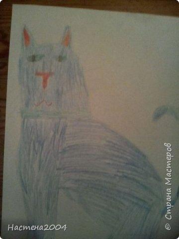 Кот из котов воителей Звездоцап. Все рисунки нарисованы карандашами и фломастерами. фото 3