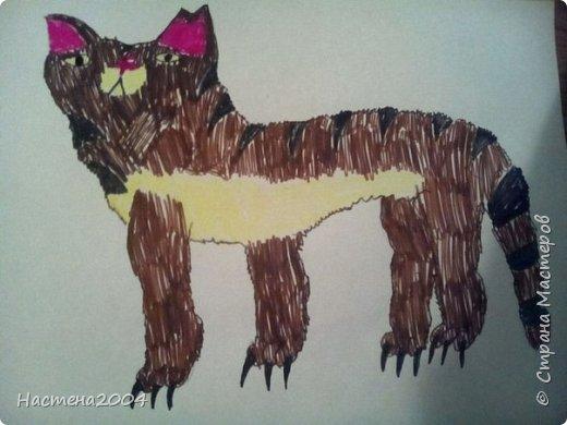 Кот из котов воителей Звездоцап. Все рисунки нарисованы карандашами и фломастерами. фото 1