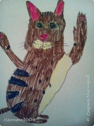 Кот из котов воителей Звездоцап. Все рисунки нарисованы карандашами и фломастерами. фото 13