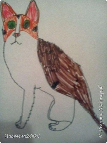 Кот из котов воителей Звездоцап. Все рисунки нарисованы карандашами и фломастерами. фото 17