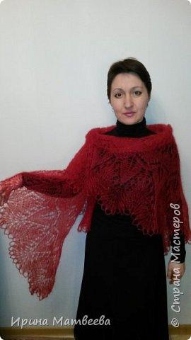 """Эта шаль называется """" Марианна"""". Я назвала ее """" Марго"""" фото 2"""