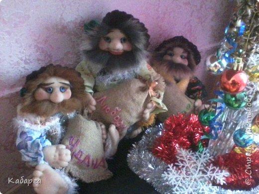 """Приветствую вас,гости мои!!!....Вот,такая """"троица""""забрела ко мне на огонёк!!!Под Новый год!!!))) фото 1"""