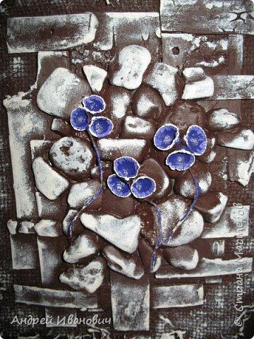 Первый слой-мешковина  Второй слой-береста Третий слой-морские камушки Четвёртый слой -ракушки фото 5