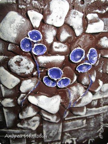 Первый слой-мешковина  Второй слой-береста Третий слой-морские камушки Четвёртый слой -ракушки фото 7
