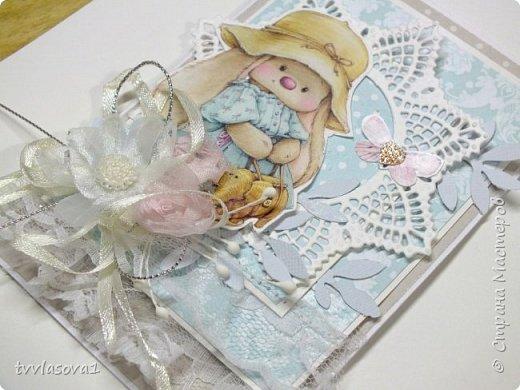 Ой,девочки,получила я  бумагу  с такими милыми заями... вот первую для внучки на годовасие сделала... фото 3