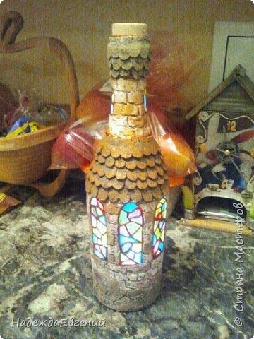 Всем доброго времени суток!!!Вот такую бутылочку с витражными окошками хотелось вам показать фото 2