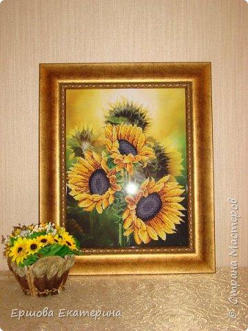 Картина бисером, частичная вышивка, с нанесенным рисунком на канву. Производитель Украина Картины бисером. Готовая работа получилась внушительных размеров. Размер с рамкой 47 на 57 см. фото 1