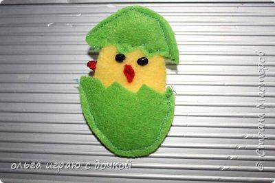 магнитик пасхальный, или игра найди цыпленку свой домик ( закрепляем учим цвета) для детей фото 2