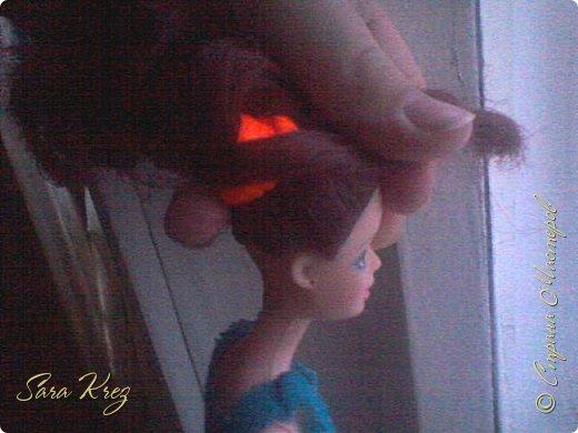 Всем приветики.Сегодня решила вам показать находку из интернета.Нашла как сделать кукле причёску с чёлкой,может кто-то её видел,но я вам её покажу!Это что-то типа Краткого мк. простите,но фото будут к сожалению не ахти фото 6