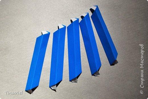 Сегодня я хочу поделиться тем, как я делала 6 пересекающихся пятиугольников, или Makalu (автор Robert J. Lang).  фото 12