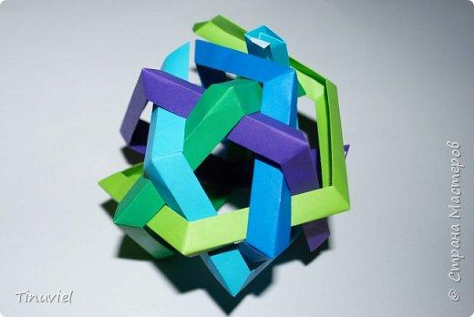 Сегодня я хочу поделиться тем, как я делала 6 пересекающихся пятиугольников, или Makalu (автор Robert J. Lang).  фото 16