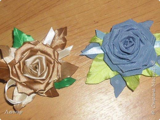 Эта из последних.Пробовала по-другому собирать розу. фото 5