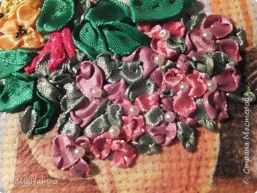 Все, как я люблю: кошка, декупаж по ткани, вышивка лентами. фото 3