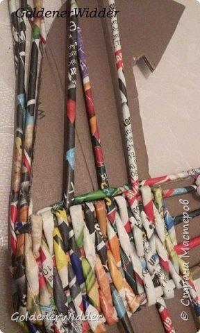 Поделка изделие 23 февраля Плетение Часы- якорь рабочие + небольшой рассказ о том как я их делала Бумага газетная Трубочки бумажные фото 9