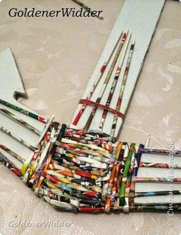 Поделка изделие 23 февраля Плетение Часы- якорь рабочие + небольшой рассказ о том как я их делала Бумага газетная Трубочки бумажные фото 11