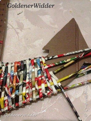 Поделка изделие 23 февраля Плетение Часы- якорь рабочие + небольшой рассказ о том как я их делала Бумага газетная Трубочки бумажные фото 12