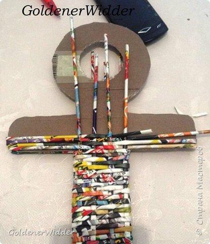 Поделка изделие 23 февраля Плетение Часы- якорь рабочие + небольшой рассказ о том как я их делала Бумага газетная Трубочки бумажные фото 17