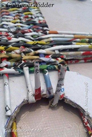 Поделка изделие 23 февраля Плетение Часы- якорь рабочие + небольшой рассказ о том как я их делала Бумага газетная Трубочки бумажные фото 20