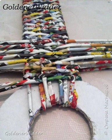 Поделка изделие 23 февраля Плетение Часы- якорь рабочие + небольшой рассказ о том как я их делала Бумага газетная Трубочки бумажные фото 23