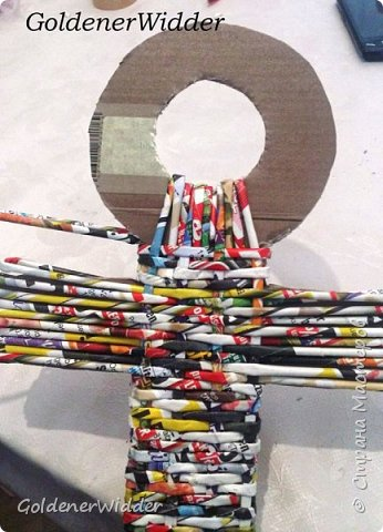 Поделка изделие 23 февраля Плетение Часы- якорь рабочие + небольшой рассказ о том как я их делала Бумага газетная Трубочки бумажные фото 24