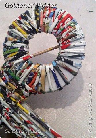 Поделка изделие 23 февраля Плетение Часы- якорь рабочие + небольшой рассказ о том как я их делала Бумага газетная Трубочки бумажные фото 27