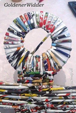 Поделка изделие 23 февраля Плетение Часы- якорь рабочие + небольшой рассказ о том как я их делала Бумага газетная Трубочки бумажные фото 26