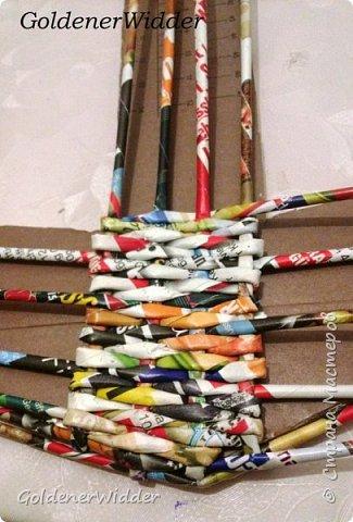 Поделка изделие 23 февраля Плетение Часы- якорь рабочие + небольшой рассказ о том как я их делала Бумага газетная Трубочки бумажные фото 6