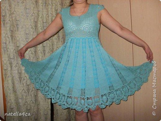Узнали девушки,что я вяжу крючком и решили заказать мне платье на лето. Страшновато было вязать не себе,а постороннему человеку,но решила попробовать.Вот что вышло... фото 2