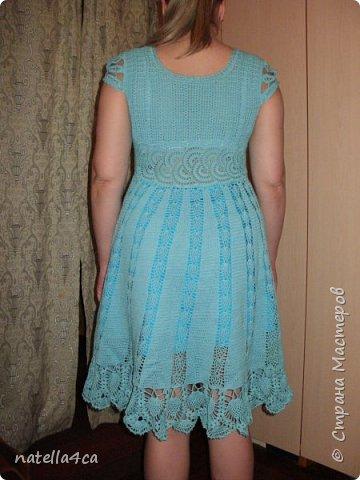 Узнали девушки,что я вяжу крючком и решили заказать мне платье на лето. Страшновато было вязать не себе,а постороннему человеку,но решила попробовать.Вот что вышло... фото 4