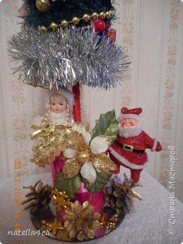 Новогодняя елочка,что может быть лучше на Новый год?А сделанная своими руками это вдвойне приятно!!! фото 2