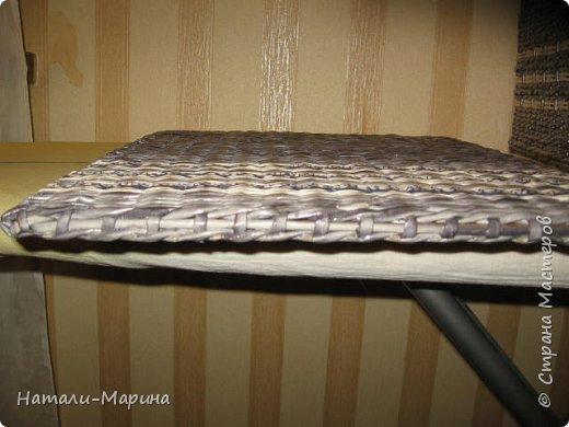 Короб (тоже первенец) для белья в ванную комнату. Крышка не крепится. Оплетена с обеих сторон. фото 6