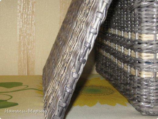 Короб (тоже первенец) для белья в ванную комнату. Крышка не крепится. Оплетена с обеих сторон. фото 7