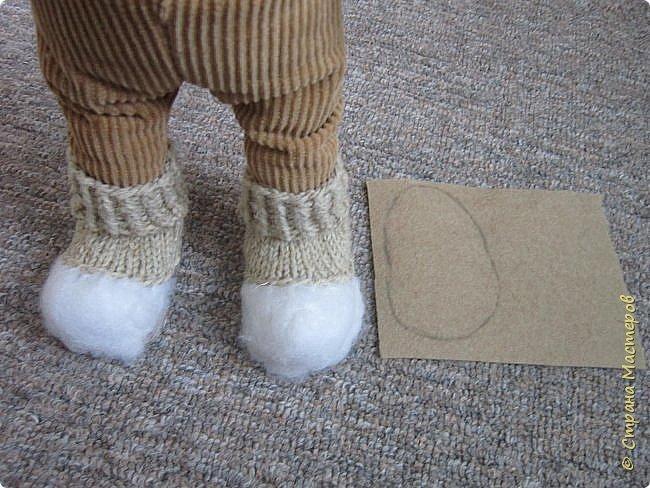 Мастер-класс Шитьё Ботинки для кукол  Нитки Ткань Фетр фото 3