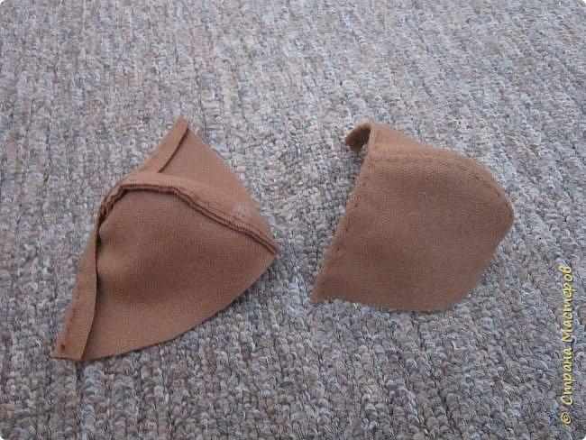 Мастер-класс Шитьё Ботинки для кукол  Нитки Ткань Фетр фото 7