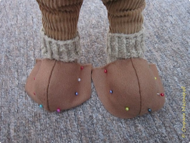 Мастер-класс Шитьё Ботинки для кукол  Нитки Ткань Фетр фото 8