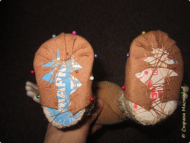 Мастер-класс Шитьё Ботинки для кукол  Нитки Ткань Фетр фото 9