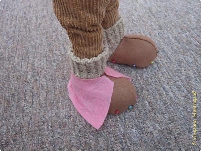 Мастер-класс Шитьё Ботинки для кукол  Нитки Ткань Фетр фото 10