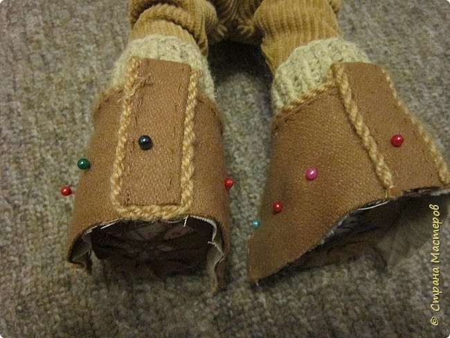 Мастер-класс Шитьё Ботинки для кукол  Нитки Ткань Фетр фото 16