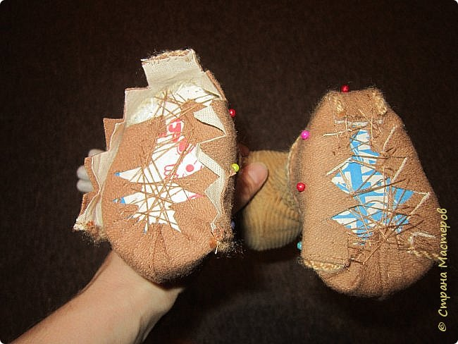 Мастер-класс Шитьё Ботинки для кукол  Нитки Ткань Фетр фото 17