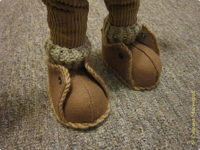 Мастер-класс Шитьё Ботинки для кукол  Нитки Ткань Фетр фото 18
