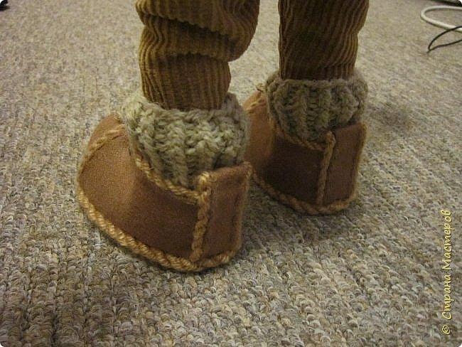 Мастер-класс Шитьё Ботинки для кукол  Нитки Ткань Фетр фото 20
