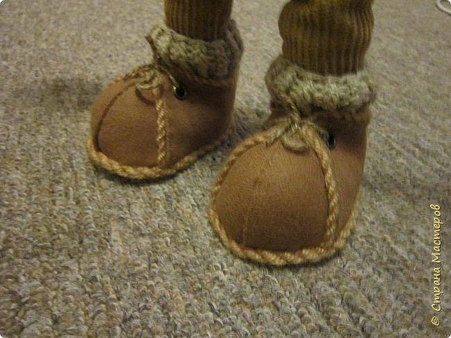Мастер-класс Шитьё Ботинки для кукол  Нитки Ткань Фетр фото 21