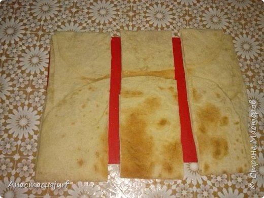Кулинария Мастер-класс Треугольники из лаваша с ветчиной и сыром фото 3