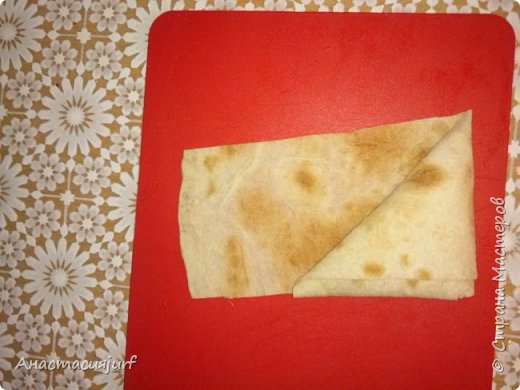 Кулинария Мастер-класс Треугольники из лаваша с ветчиной и сыром фото 5
