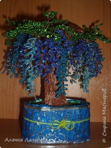 Глициния дерево из бисера бисер