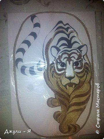 """Привет всем Мастерам и Мастерицам и просто гостям!!! А вот моя 2 часть """"Африки"""" !!! Ну какая Африка без тигра а дом без ключницы??!!)) И вот небольшой МК! фото 10"""