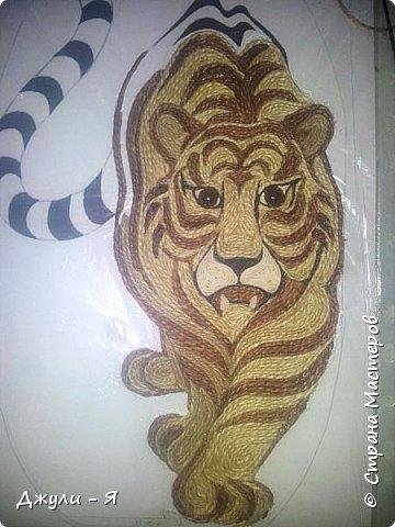 """Привет всем Мастерам и Мастерицам и просто гостям!!! А вот моя 2 часть """"Африки"""" !!! Ну какая Африка без тигра а дом без ключницы??!!)) И вот небольшой МК! фото 15"""